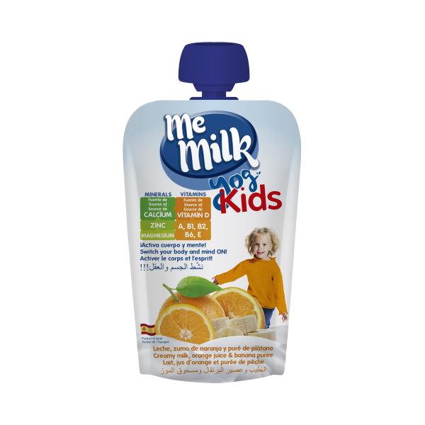 MeMilk - Yog Kids Doy Pack - Zumo de Naranja y Plátano 100gr